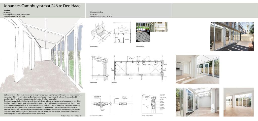 Aanbouw woonhuis met serre